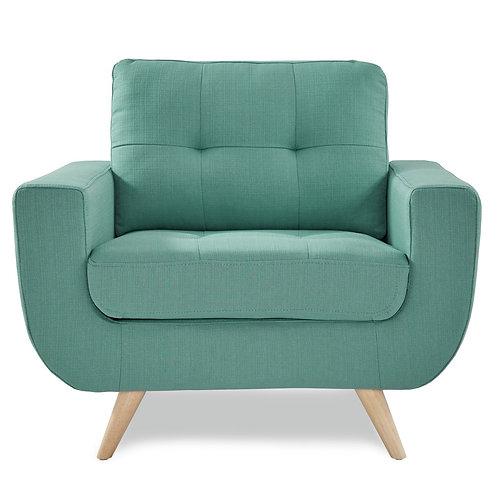 Derin Henry Teal Mid-Century Chair