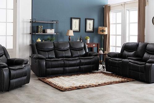 8004 Mg Black Reclining Sofa