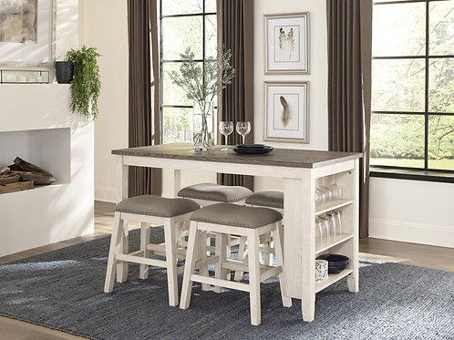 Timbre Henry Whitewash Counter Height Table