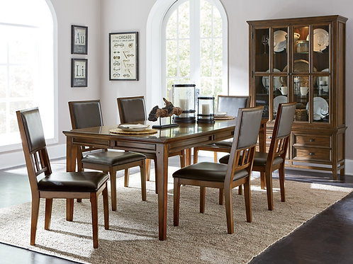 Henry  Frazier Park Transitional Brown Cherry Table w/Extension