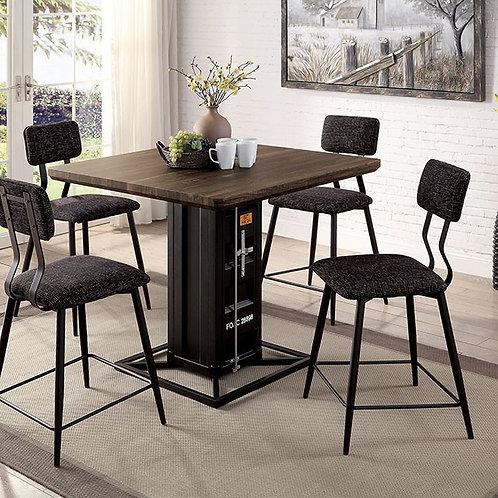 Dicarda Imprad Walnut/Sand Black Counter Table