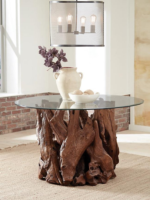 Asbury Cali Dining Table Base Natural Teak