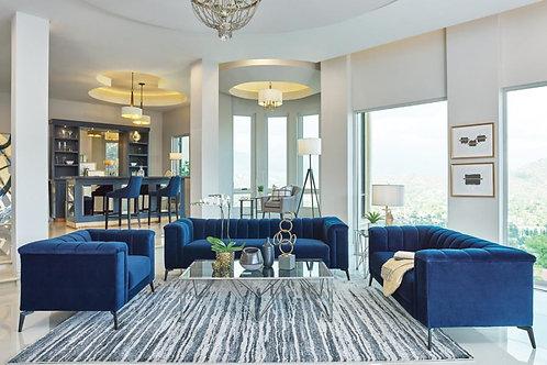 Chalet Cali Blue Velvet Sofa