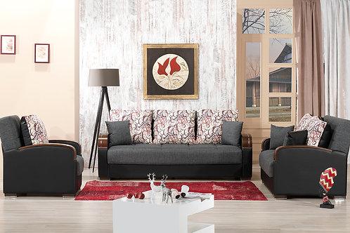 Diva Pegasus Click Clack Sleeper Sofa  – Gray Farbric
