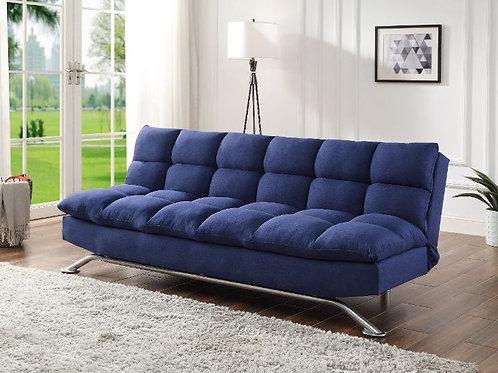 All PETOKEA 58255 Ultra Plush Blue Fabric Adjustable Sofa