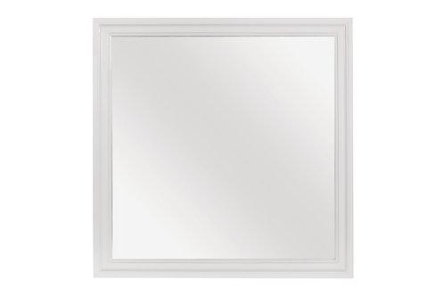 Henry Lana Traditional Glam White Alligator Texture Mirror