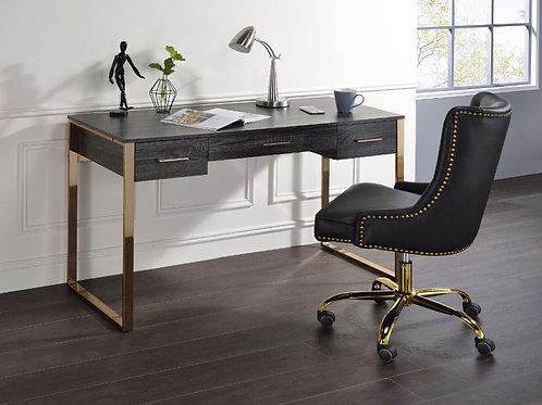All Perle Champagne Gold & Black Finish Writing Desk