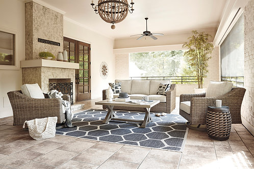 Beachcroft Angel Sofa and 2 Swivel Chairs