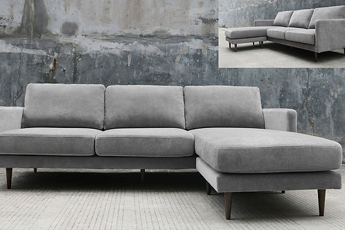 Dream Kelsey Reversible Sectional Grey Fabric