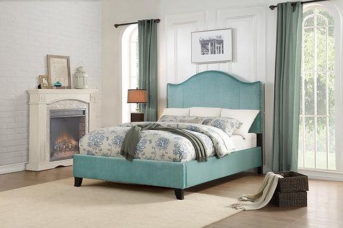 Carlow Henry Blue Velvet Bed