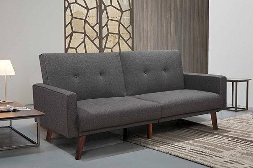 9220 Milt Gray Linen Futon