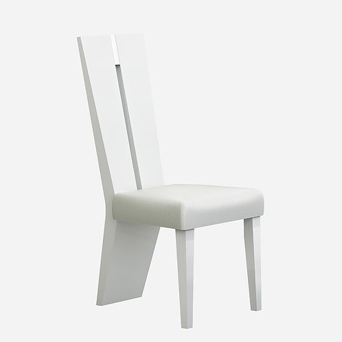 313 Geo White Dining Chair
