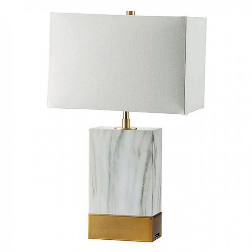Faith Imrad Marble/Gold Lamp