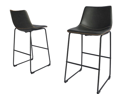 Best BS29 Charcoal Faux Leather Barstool