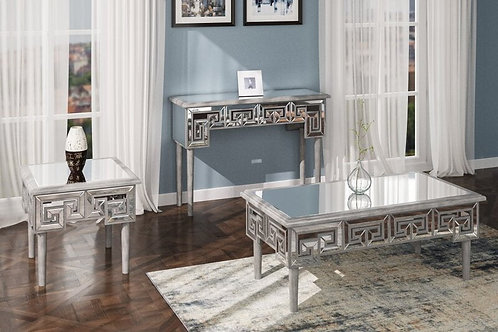 Emeral Heritage Antique Champagne Glam Mirrored Coffee Table