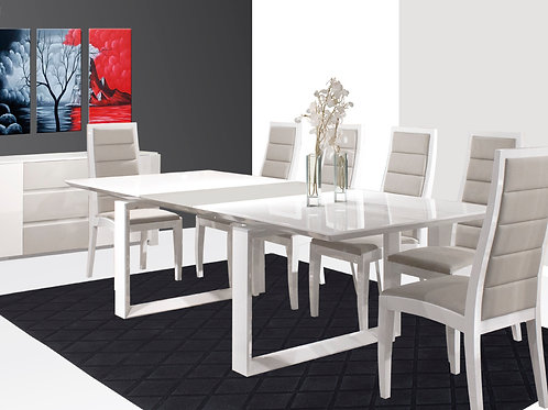 Natali Shar White/Grey Lacquer Table
