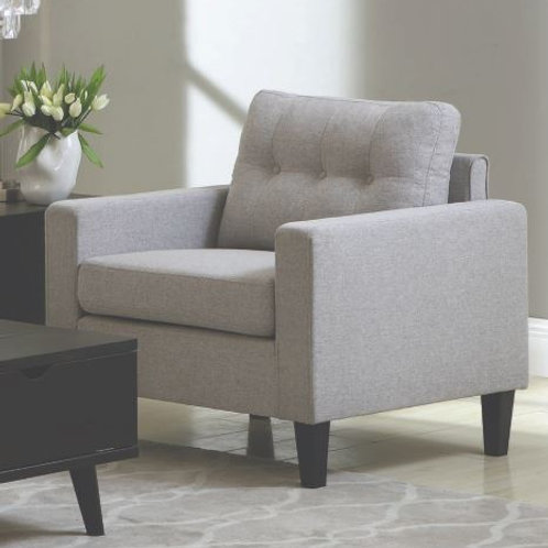 Metro Cali Tufted Light Grey Woven Chair
