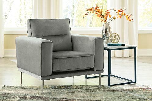 Macleary Angel Gray Velvet Chair