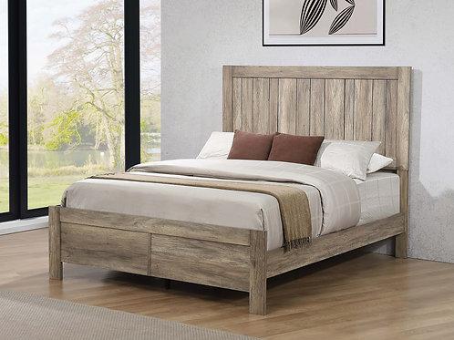 Adelaide Wood Panel Bed Rustic Oak