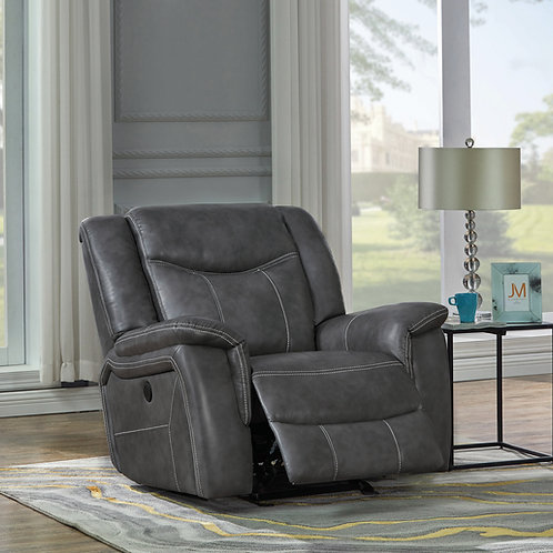 Conrad Cali Upholstered Power Glider Recliner Grey