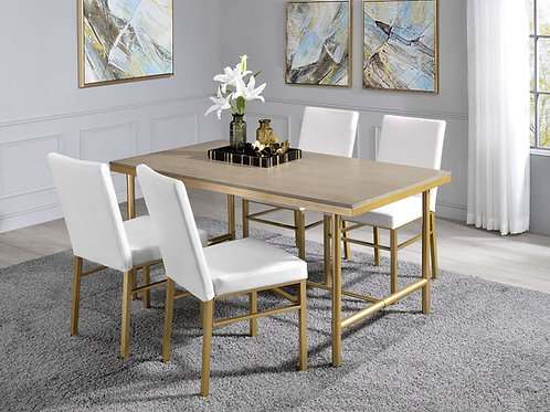 All Entropy - 72270 - Glam, Industrial - PU 5Pc Dining Set