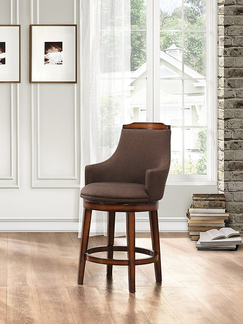 Bayshore Henry Swivel Counter Height Fabric Chair