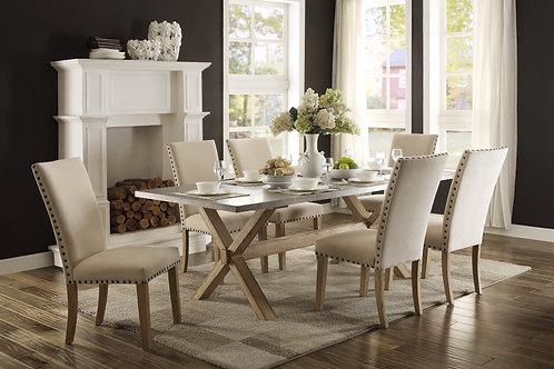 Luella Henry Oak Finish Dining Table