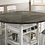 Thumbnail: STACIE Imprad Transitional 2 Tone Gray/White Wine Rack Round Counter Ht. Table
