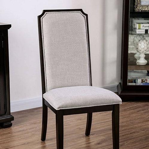 GILLAM Imprad Transitional Espresso/Gray Fabric Side Chair