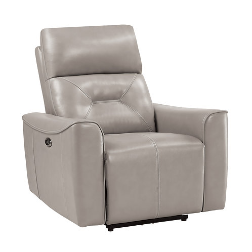 Henry Burwell Light Gray Power Reclining Chair with USB port