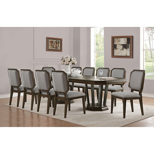 Selma All Tobacco Finish Dining Table