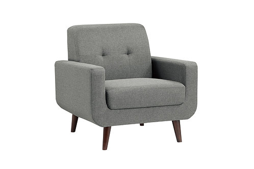 Henry Fitch Gray Textured Fabric Chair