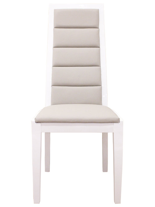 Venus Shar White Gloss Chair gray l