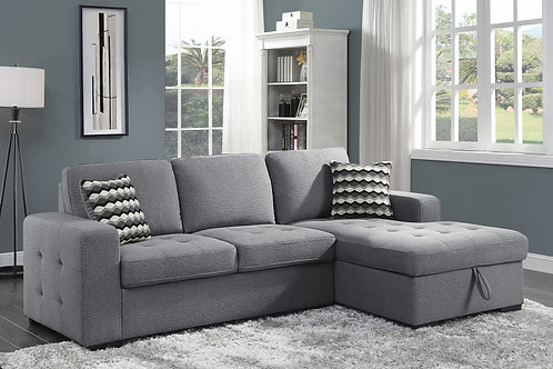 Henry Solomon 2-Piece Sectional with Hidden Storage