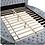 Thumbnail: DELILAH Imprad Glam Gray Velvet Tufted Bed