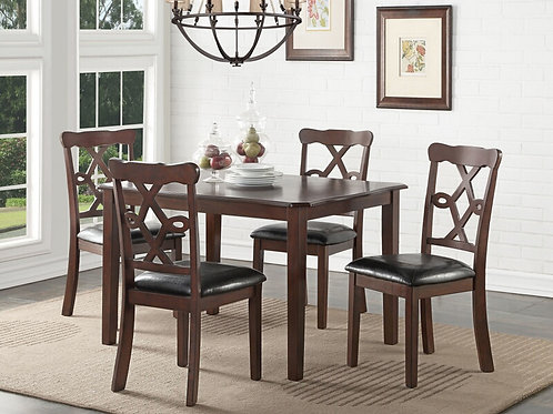 Ingeborg All 5pc Table Set (Table + 4 Chairs)