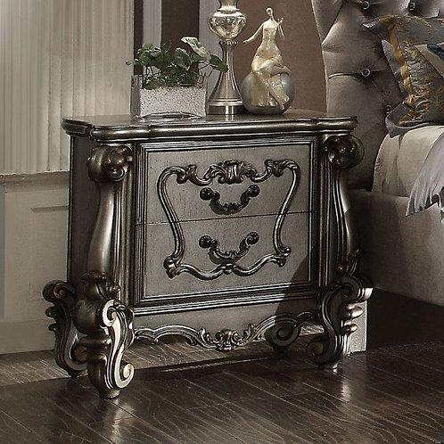 Versailles All Antique Platinum Finish Nightstand