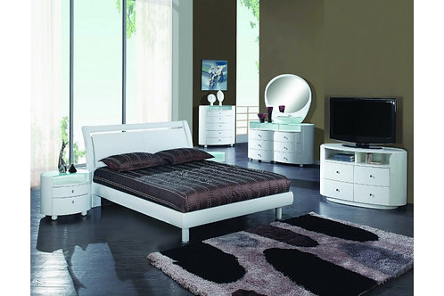 Cosmo White Modern Bed