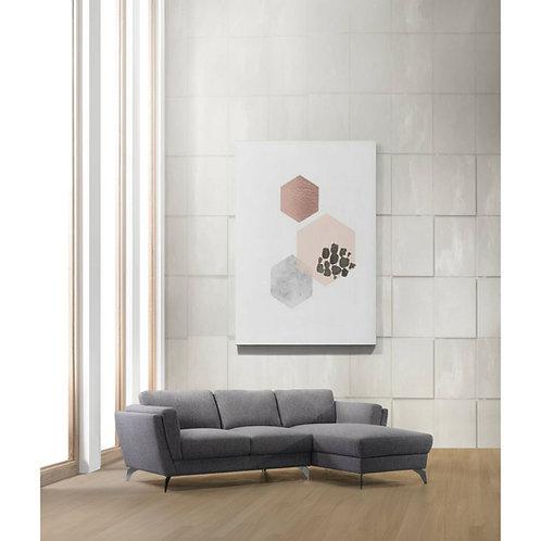 All Beckett Gray Fabric Sectional Sofa
