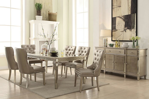 Kacela Champagne Finish Dining Table