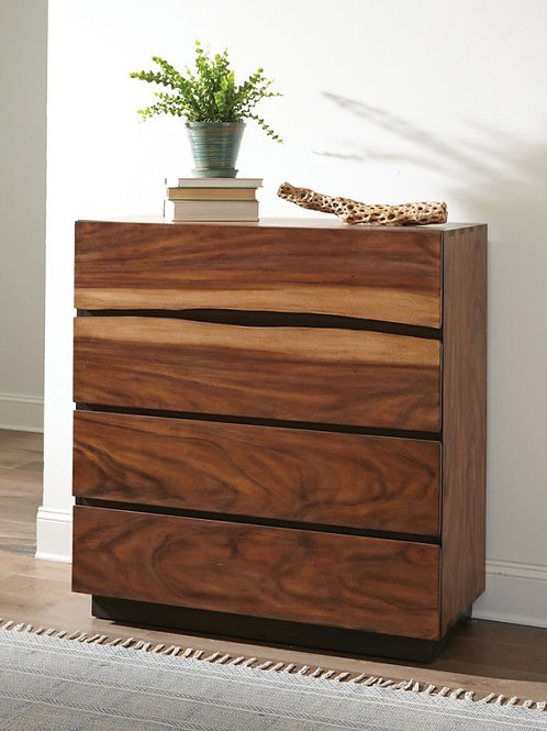 Cali Winslow Contemporary Chest in Smokey Walnut and Coffee Bean