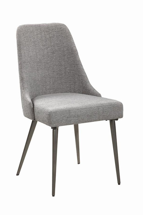 Levitt Cali Upholstered Dining Chairs Grey