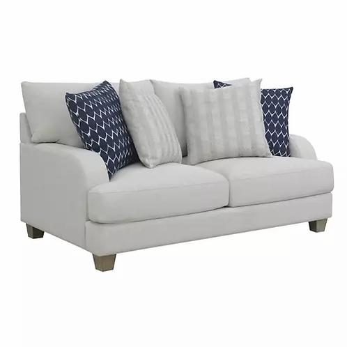 Emeral Laney Gray Linen Loveseat w/4 Pillows