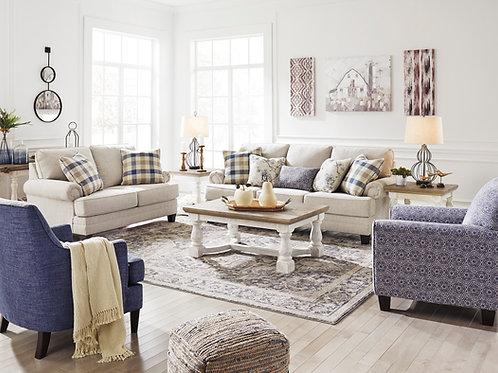 Meggett Angel Casual Beige Linen Sofa
