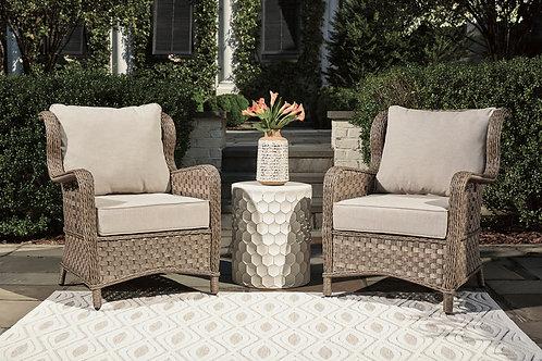 Clear Ridge Angel Light Brown Patio Lounge Chair w/Cushion