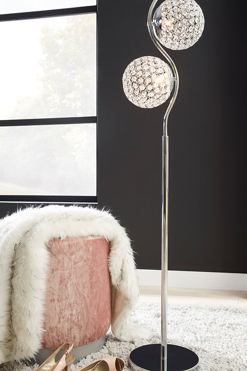 Angel Clear/Silver Finish Metal Floor Lamp