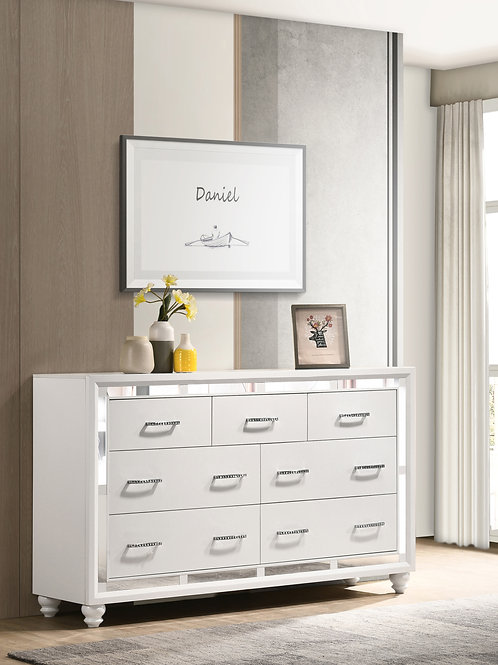 Whitaker Cali 7-Drawer Dresser White