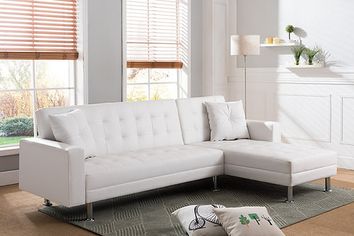8036 Milt Reversible Click-Clack Sectional White