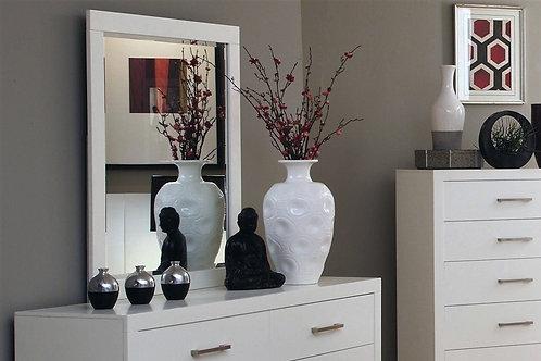 Jessica Cali Modern White Mirror