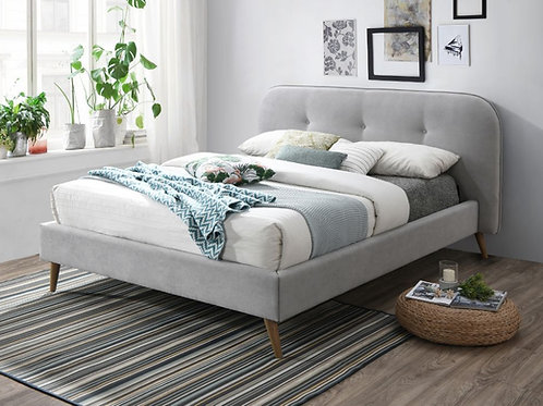 All GRAVES GRAY FABRIC Platform Bed - 28980